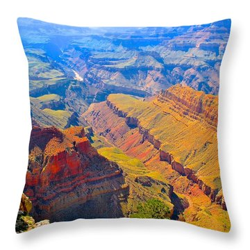 Grand Canyon In Vivid Color Throw Pillow