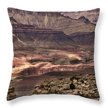 Grand Canyon Layers Throw Pillow