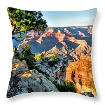 Grand Canyon Ledge Throw Pillow by Christopher Arndt