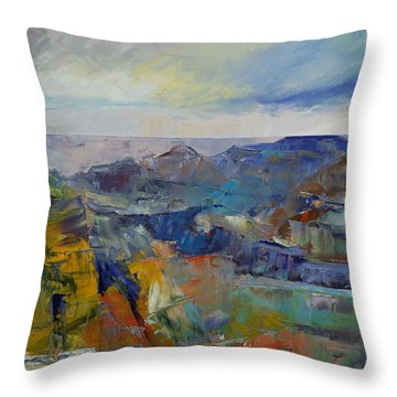 Grand Canyon Throw Pillow by Michael Creese