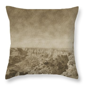 Grand Canyon National Park Mary Colter Designed Desert View Watchtower Vintage Throw Pillow by Shawn O'Brien