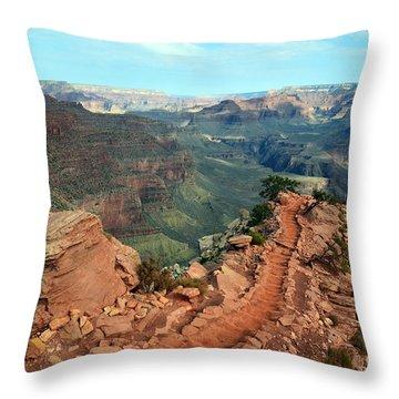 Grand Canyon National Park South Kaibab Trail Throw Pillow