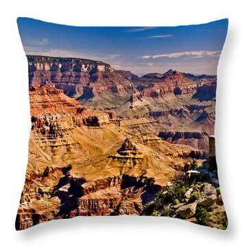 Grand Canyon Painting Throw Pillow