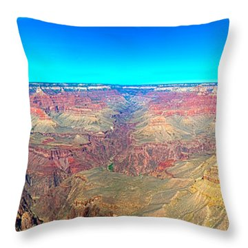 Throw Pillow featuring the photograph Grand Canyon Panorama by Penny Lisowski