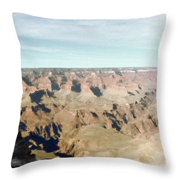 Grand Canyon Softness Throw Pillow