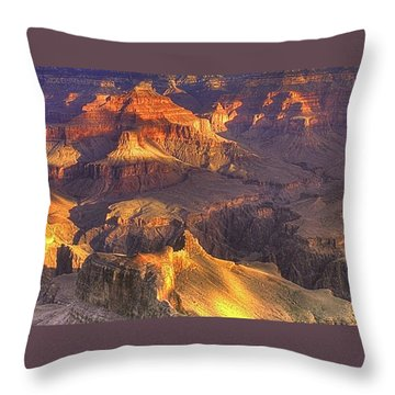 Grand Canyon - Sunrise Adagio - 1b Throw Pillow