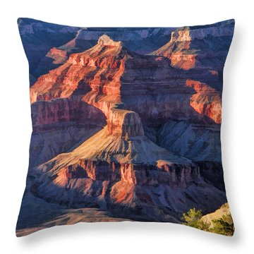 Grand Canyon National Park Sunset Ridge Throw Pillow