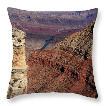 Grand Canyon View Throw Pillow by Aidan Moran