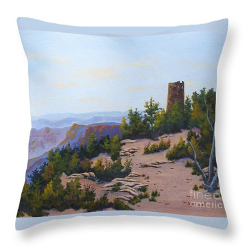 Grand Canyon Watchtower Throw Pillow