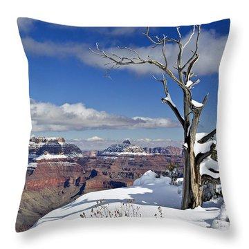 Grand Canyon Winter -2 Throw Pillow