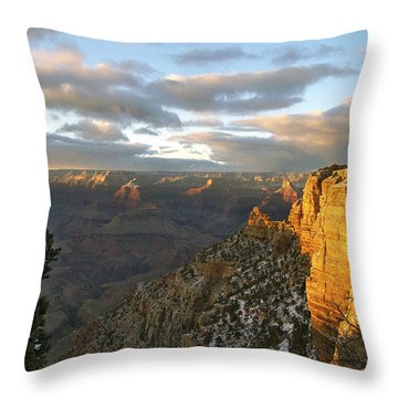 Grand Canyon. Winter Sunset Throw Pillow