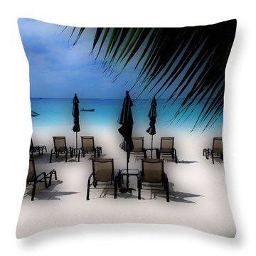 Grand Cayman Dreamscape Throw Pillow by Caroline Stella