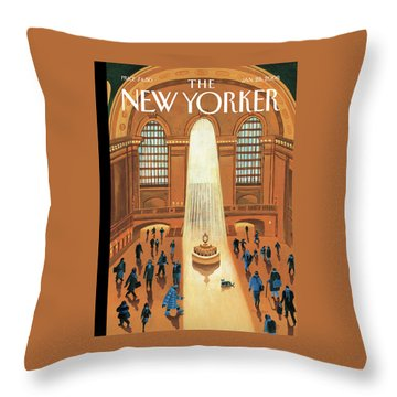 Grand Central Heating Throw Pillow