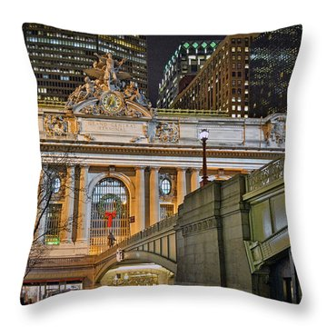 Grand Central Nocturnal Throw Pillow