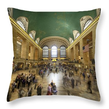 Grand Central Rush Throw Pillow