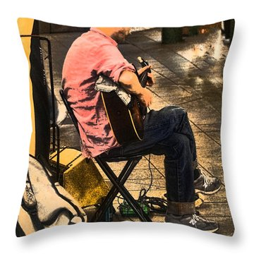Throw Pillow featuring the photograph Grand Central Station For A Song by B Wayne Mullins