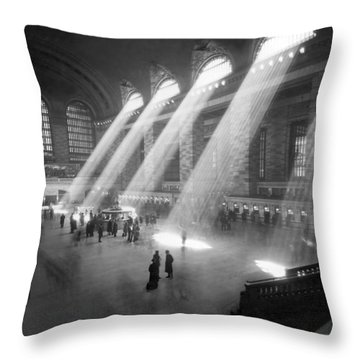 Grand Central Station Sunbeams Throw Pillow