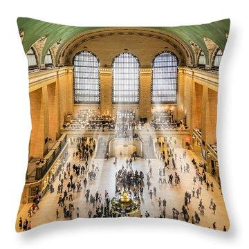 Grand Central Terminal Birds Eye View I Throw Pillow