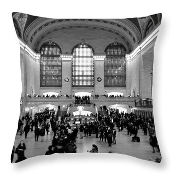 Grand Central Terminal Black And White Throw Pillow