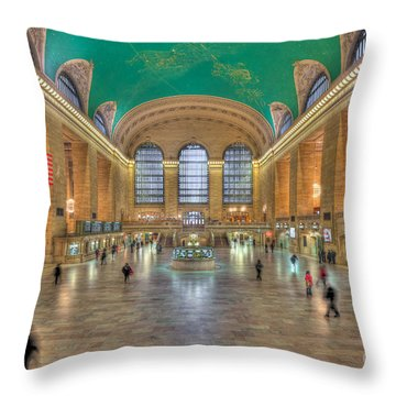 Grand Central Terminal IIi Throw Pillow by Clarence Holmes