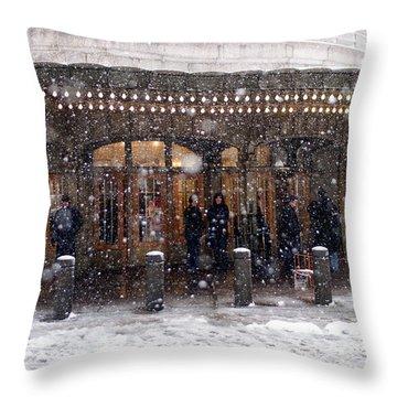 Grand Central Terminal Snow Color Throw Pillow