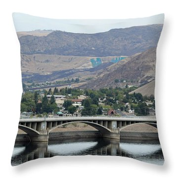 Throw Pillow featuring the photograph Grand Coulee Dam  by E Faithe Lester
