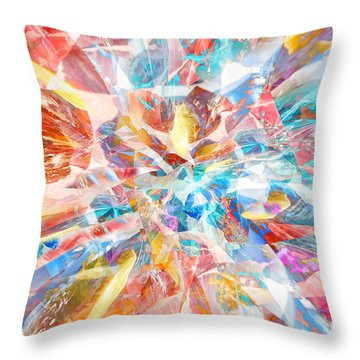Throw Pillow featuring the digital art Grand Entrance by Margie Chapman