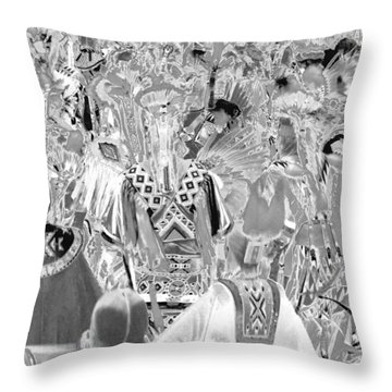 Grand Entry 25 Throw Pillow by Clarice  Lakota