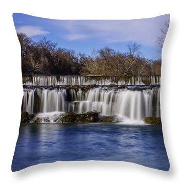 Grand Falls In Joplin Missouri Throw Pillow