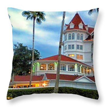 Grand Floridian Resort Walt Disney World Throw Pillow by Thomas Woolworth