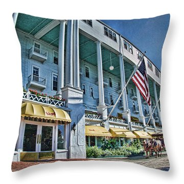 Grand Hotel - Image 001 Throw Pillow