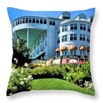 Grand Hotel - Image 002 Throw Pillow
