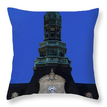 Grand Island Courthouse At Dusk, Grand Throw Pillow