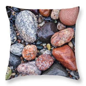 Grand Marais Beach Throw Pillow