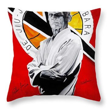 Grand Master Helio Gracie Throw Pillow