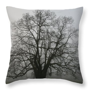 Grand Oak Tree Throw Pillow