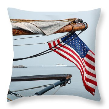 Grand Old Flag Throw Pillow
