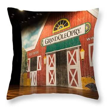 Ryman Grand Ole Opry Throw Pillow