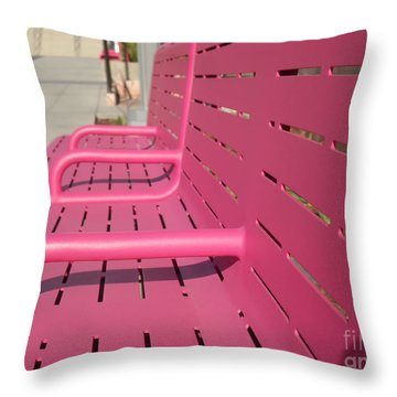 Grand Park Pink Throw Pillow