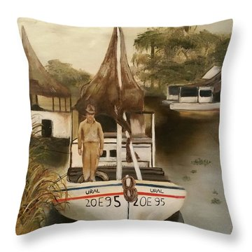 Grand Paw Domangue Throw Pillow