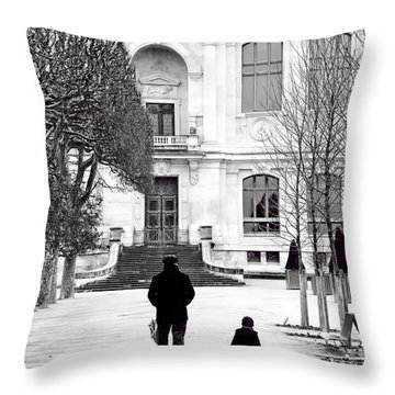 Grand Pere Throw Pillow by Evie Carrier
