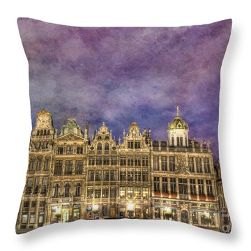 Grand Place Throw Pillow by Juli Scalzi