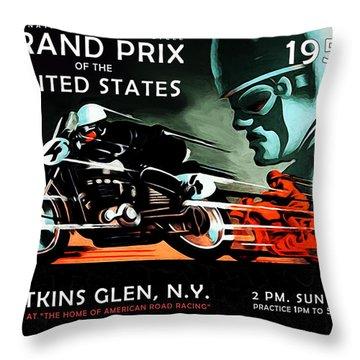 Grand Prix 1950 Throw Pillow