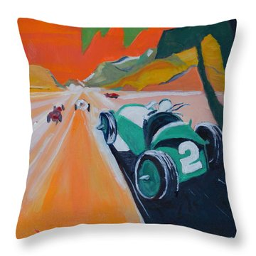 Grand Prix Throw Pillow by Julie Todd-Cundiff