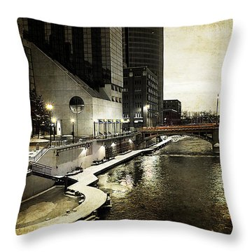 Grand Rapids Grand River Throw Pillow
