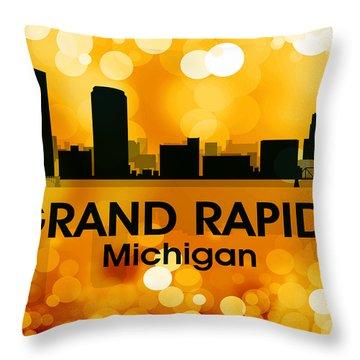 Grand Rapids Mi 3 Throw Pillow
