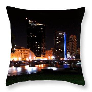 Grand Rapids Michigan Charm Throw Pillow