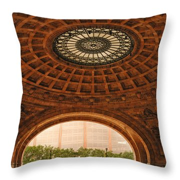 Grand Rotunda Pennsylvanian Pittsburgh Throw Pillow by Amy Cicconi