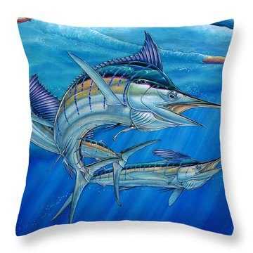 Grand Slam And Lure. Throw Pillow