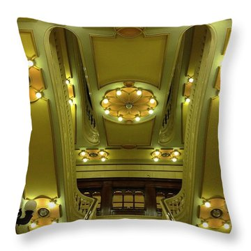 Grand Stairs Throw Pillow by Photolope Images